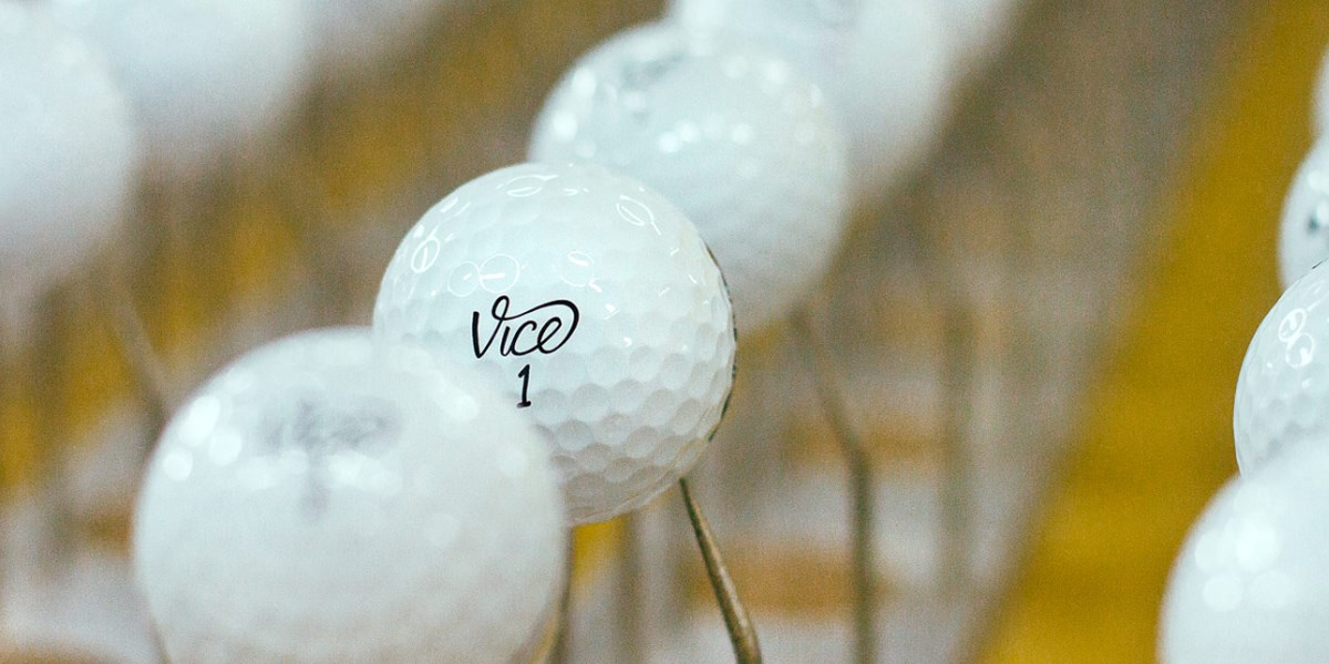 Vice golfballen, alleen de prijs is anders